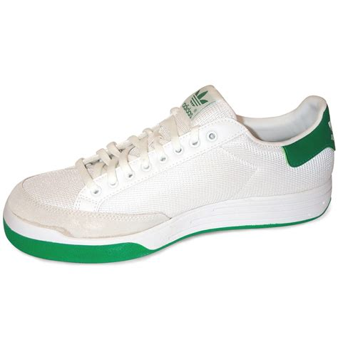 adidas rod laver tennis shoes white green world footbag