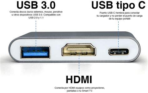entrada tipo c adaptador usb c a usb c hdmi usb 3 0