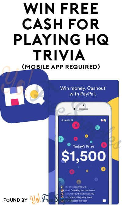 Win Money Trivia - win free cash for playing hq trivia mobile app required yo free sles