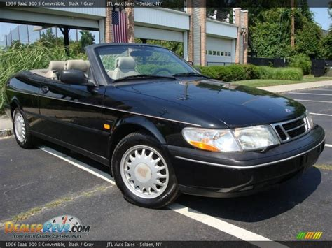 saab convertible black 1996 saab 900 s convertible black gray photo 3