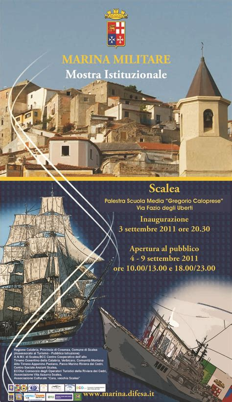 comune di scalea ufficio tributi mostra della marina militare dal 4 al 9 settembre comune