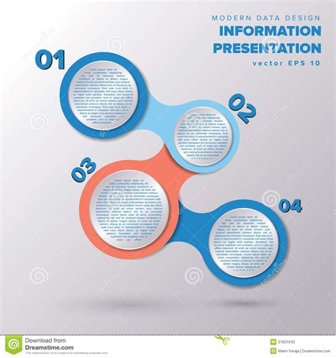 easy infographic template simple infographic metaball template design stock vector