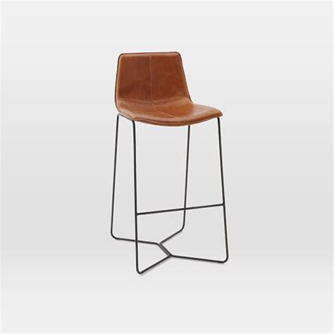leather bar stools slope leather bar counter stools west elm