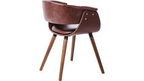 Chaise En Cuir Marron by Achetez Votre Chaise Simili Cuir Marron Et Bois Vintage