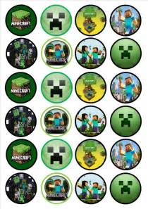 minecraft edible premium wafer paper cupcake toppers