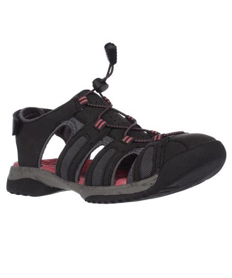 clarks sport sandals clarks tuvia melon comfort sport sandals black in black