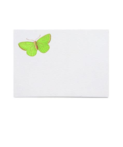 Butterfly Place Cards Template by Genuine Engraved Correspondence Stationery Journals And