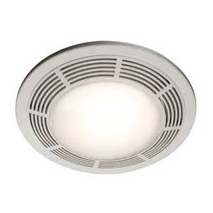 Bathroom Lights And Fans Shop Nutone 3 5 Sone 100 Cfm Polymeric White Bathroom Fan