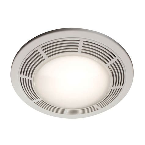 Bathroom Ceiling Light And Fan Shop Nutone 3 5 Sone 100 Cfm Polymeric White Bathroom Fan At Lowes