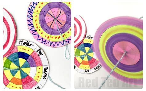 Make Your Own Color Paper - diy paper spinner toys ted s