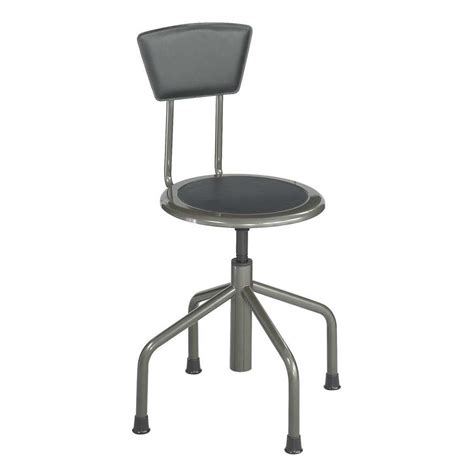 Safco Stools by Safco Diesel Stool Low Base With Back 6668