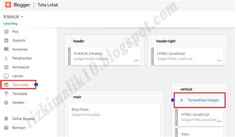cara membuat visitor blog banyak cara membuat widget visitor pada blog r malik