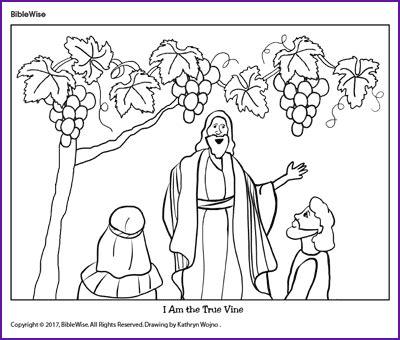 coloring pages jesus is the vine coloring jesus i am the true vine kids korner