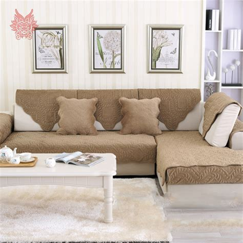 Europe Style Camel Coffee Floral Plush Sofa Cover Quilting Slipcover Style Sofa