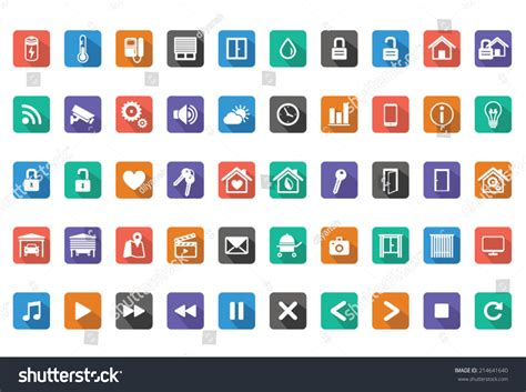 home automation smart home icon setvector stock vector