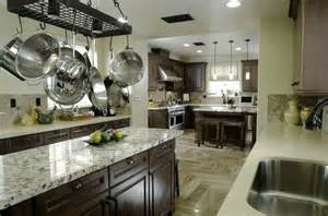 Dark Cabinet Kitchens dark wood cabinet kitchen with light color granite counters