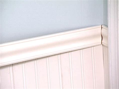 Chair Rail Wainscoting by Weekend Projects Install Wainscoting Hgtv