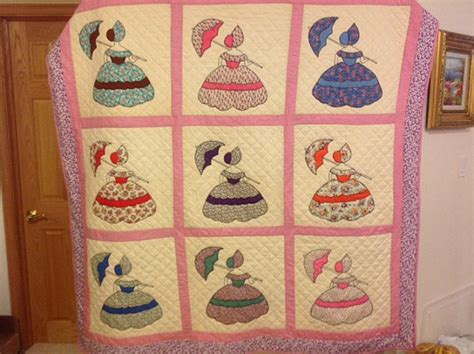 Vintage Pattern Lady | vintage colonial lady quilt pattern