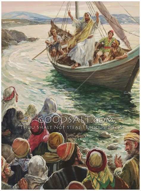 how to christen a boat christ preaching from a boat