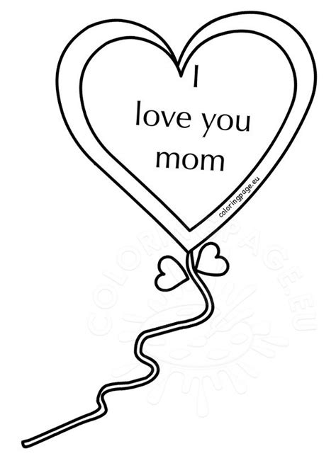 i love you heart coloring pages mother s day 2017 heart i love you mom coloring page