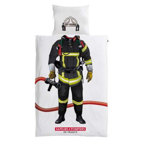 housse de couette pompiers couette comme un vrai sapeur pompier