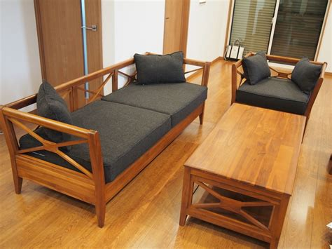 Set Kursi Tamu Jati Minimalis 55 model kursi tamu gaya minimalis modern jati