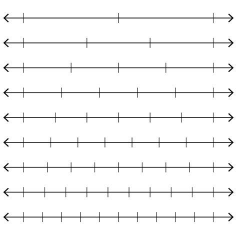 printable number lines with fractions blank number line worksheet www pixshark com images