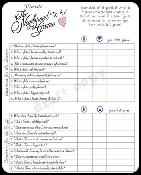 Questions For Newlywed At Bridal Shower by The 25 Best Newlywed Questions Ideas On
