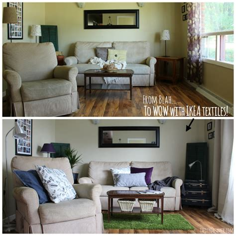 before after jennifer s style added bedroom makeover quick easy living room makeover ikeamakeover