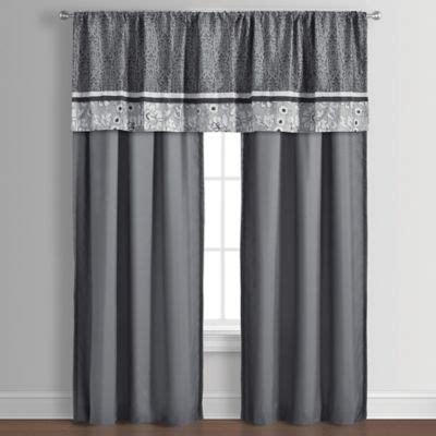Grey Sheer Valance Buy Grey Sheer Curtains From Bed Bath Beyond