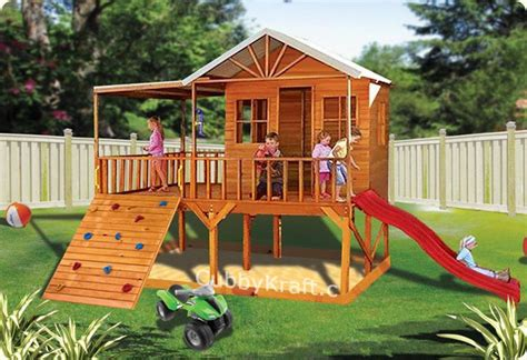 Blue Cockatoo Cubby House Kids Playground Equipment by