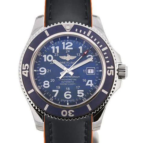 Breitling Superocean Ii Black breitling superocean ii 44mm blue black and orange