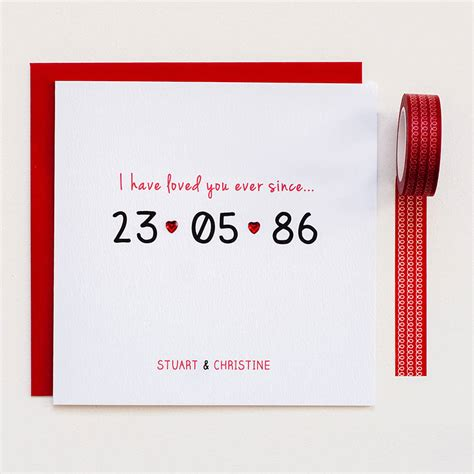 Template Anniversary Of Date Card by Personalised Special Date Anniversary Card By