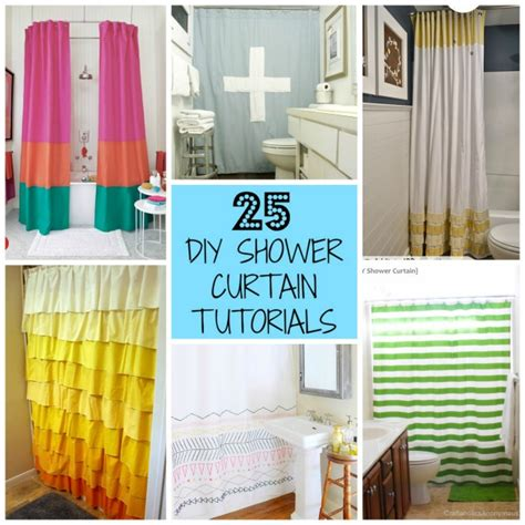how to make shower curtains 25 diy shower curtain tutorials domestic imperfection