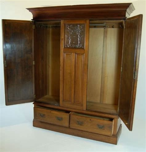 victorian armoire wardrobe victorian mirrored wardrobe linen press armoire antique