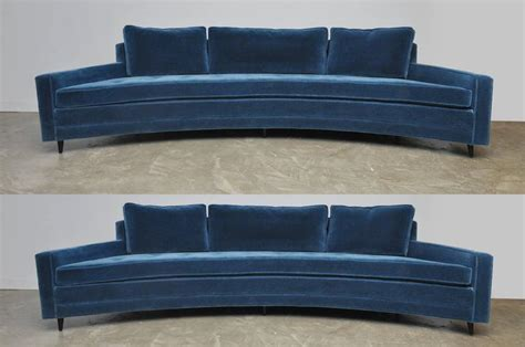 Harvey Probber Pair Of Curved Front Sofas For Sale At 1stdibs Curved Front Sofa