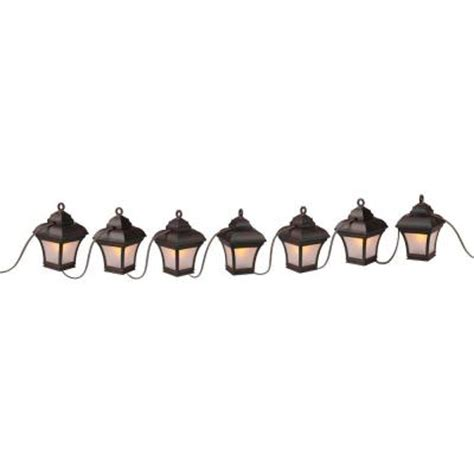 String Lights For Patio Home Depot Newport Coastal Patio Lights 7 Light Antique Bronze Led