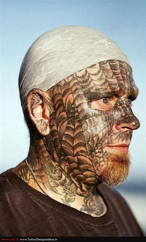 spider face tattoo beautiful spider web in ear for and