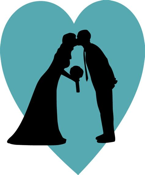 Wedding Silhouette by Your Own Wedding Silhouette Radmegan
