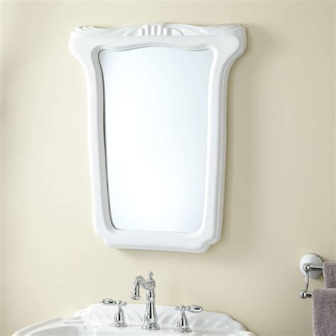 white mirrors for bathroom oval ceramic mirror white bathroom mirrors bathroom
