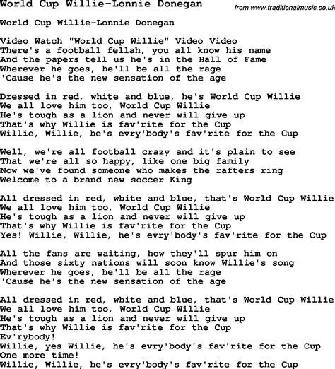 testo cups skiffle lyrics for world cup willie lonnie donegan