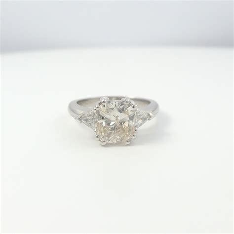 2 50 ct radiant cut d si2 solitaire engagement