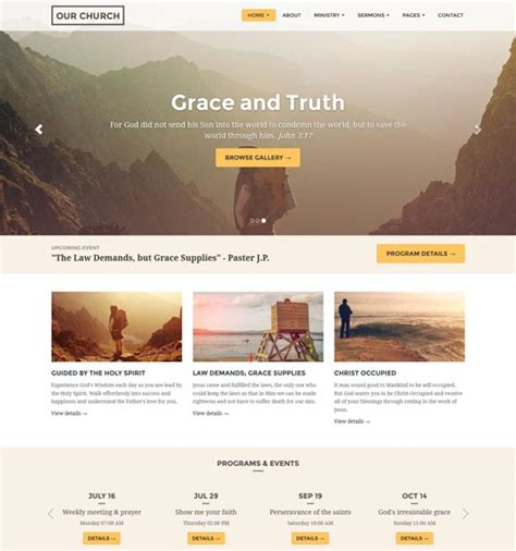 Church Web Templates by 30 Best Church Website Templates Free Premium