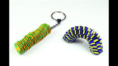 How To Make Paper Keychains - how to make a paper slinky keychain custom design