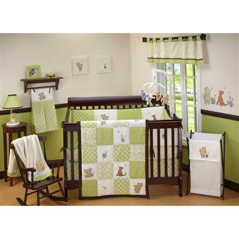 Disney Baby Winnie The Pooh Sunshine Patch 4 Piece Crib Crib Bedding Sets For