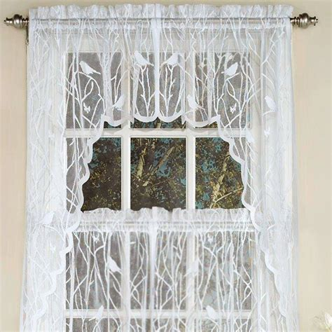 Bird Lace Curtains Troubadour Birds Lace Curtain Window Treatment