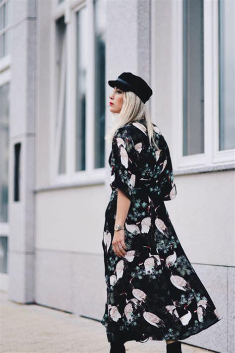 KIMONO DRESS STREET STYLE   Shiny Syl blog