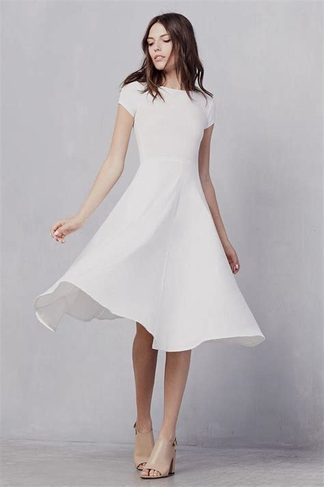 White Dress white simple dress oasis fashion