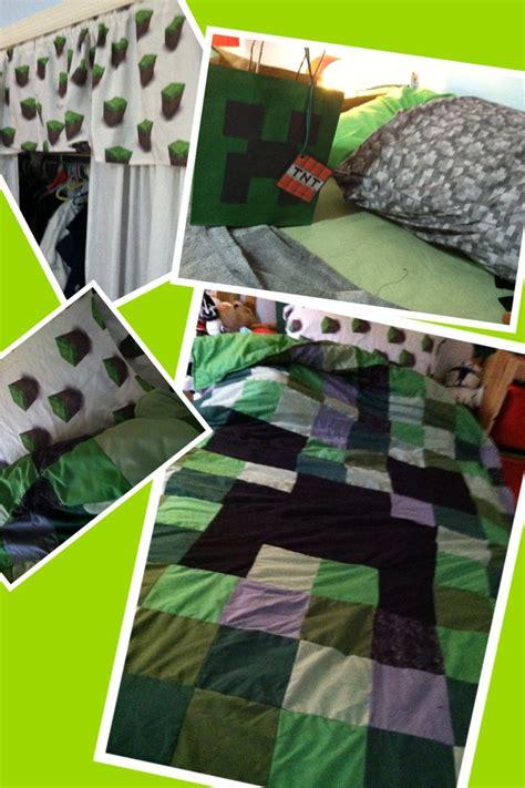minecraft creeper comforter mincraft quilt pillow case valance minecraft party
