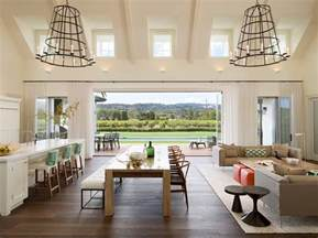 farmhouse open concept kitchen designs family room transitional with indoor outdoor living